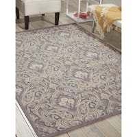 Nourison Graphic Illusions Paisley Multi Grey Rug - 5'3 x 7'5