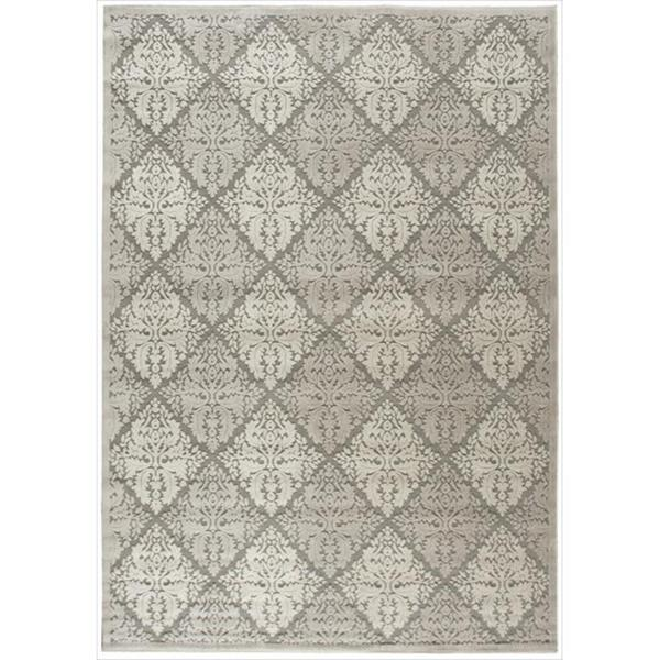 Nourison Graphic Illusions Ivory Diamond Pattern Rug - 5'3 x 7'5