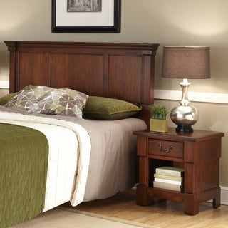 the aspen collection rustic cherry queenfull headboard u0026 night stand by home styles