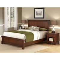 Laurel Creek Floyd Rustic Cherry Queen-size Bed and Nightstand