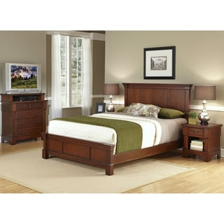 Home Styles The Aspen Collection Queen Bed, Media Chest, & Night Stand