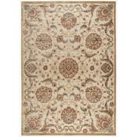 Nourison Graphic Illusions Medallion Beige Multi Color Rug - 7'9 x 10'10