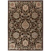 Nourison Graphic Illusions Medallion Chocolate Multi Rug (7'9 x 10'10) - 7'9 x 10'10