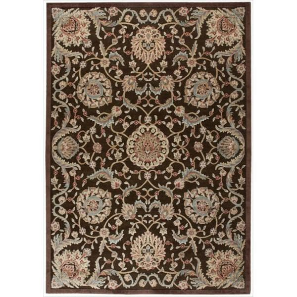 Nourison Graphic Illusions Medallion Chocolate Multi Rug (7'9 x 10'10) - 7'9 x 10'10
