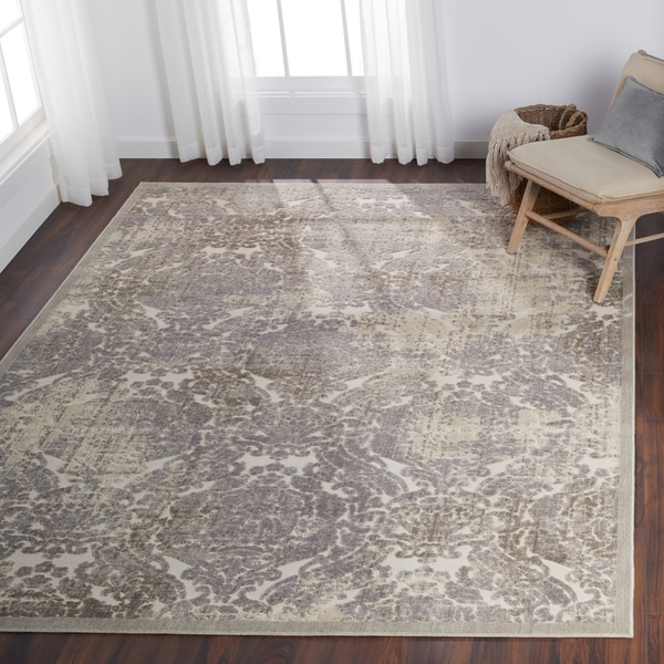 """Nourison Graphic Illusions Ivory Vintage Distressed Rug - 7'9"""" x 10'10"""""""