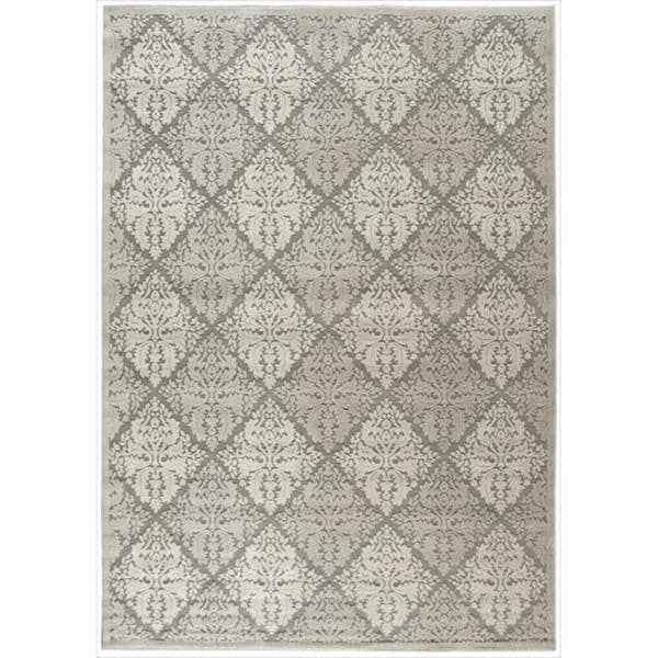 Nourison Graphic Illusions Ivory Diamond Pattern Rug - 7'9 x 10'10