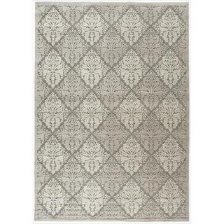 Nourison Graphic Illusions Ivory Diamond Pattern Rug (7'9 x 10'10)