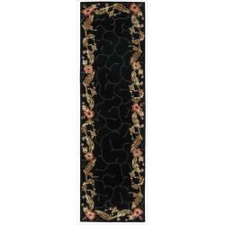 Nourison Hand-tufted Julian Black Rug (2'3 x 8')