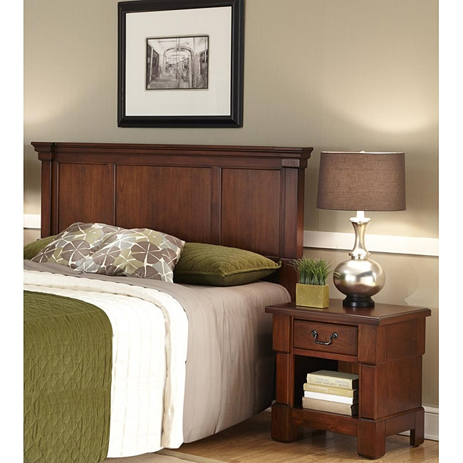 The Aspen Collection Rustic Cherry King/California King Headboard & Night Stand by Home Styles