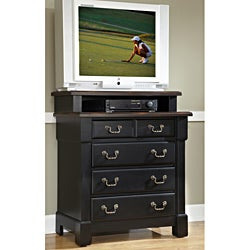 Home Styles The Aspen Collection Rustic Cherry and Black Media Chest