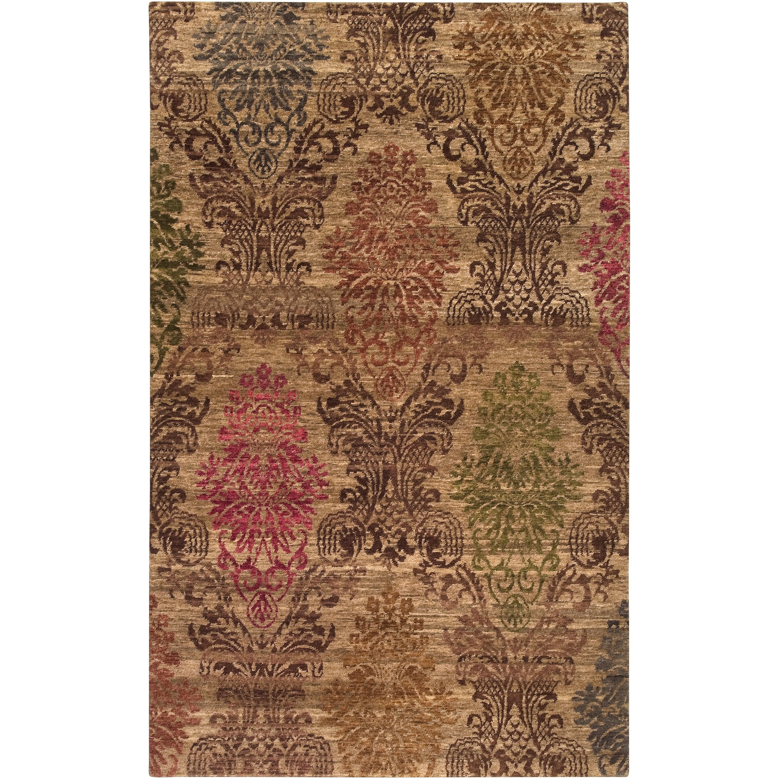Hand-knotted Juneau Tan Wool Rug (2' x 3')