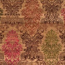 Hand-knotted Juneau Tan Wool Rug (2' x 3') - Thumbnail 2