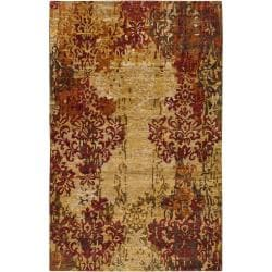Hand-knotted College Tan Wool Rug (2' x 3')