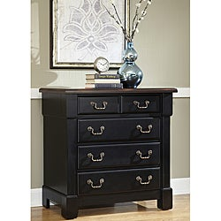 Home Styles The Aspen Collection Rustic Cherry and Black Drawer Chest