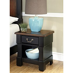 The Aspen Collection Rustic Cherry & Black Night Stand by Home Styles