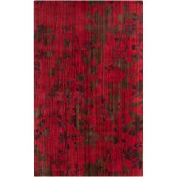 Hand-knotted Fairview Wine Wool Rug (8' x 11')