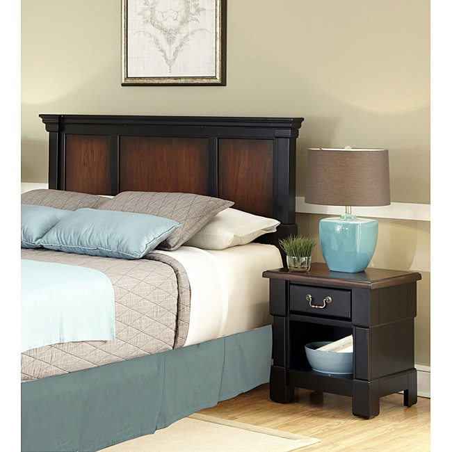 Shop Home Styles Aspen Rustic Cherry King Bedroom Set At: The Aspen Collection Rustic Cherry & Black Queen/Full