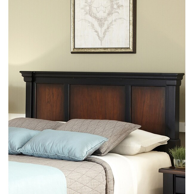 Home Styles The Aspen Collection Rustic Cherry & Black Queen/Full Headboard