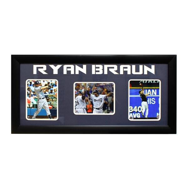 Milwaukee Brewers Ryan Braun Three-Photo Frame