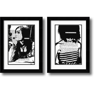 Framed Art Print 'Her Story - set of 2' by John Clark 20 x 26-inch Each