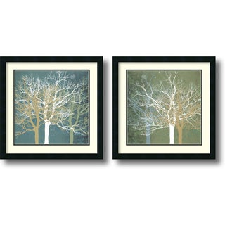 Framed Art Print 'Tranquil Forest - set of 2' by Erin Clark 22 x 22-inch Each