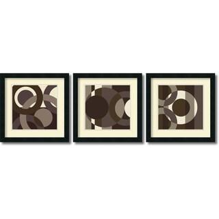 Framed Art Print 'Circa Cibonne Como - set of 3' by Denise Duplock 18 x 18-inch Each