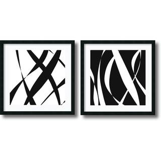 Framed Art Print 'Fistral Nero Blanco - set of 2' by Denise Duplock 26 x 26-inch Each