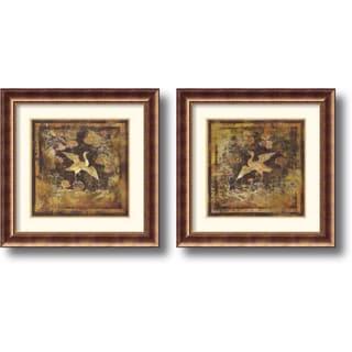 Georgia 'Birds of Paradise - set of 2' Framed Art Print (30 x 30-inch) Each