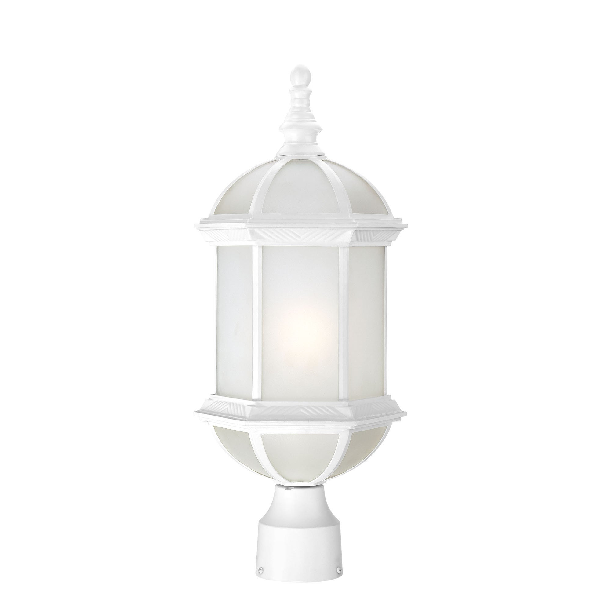 Nuvo Boxwood Modern One-Light White 19-Inch Post Fixture