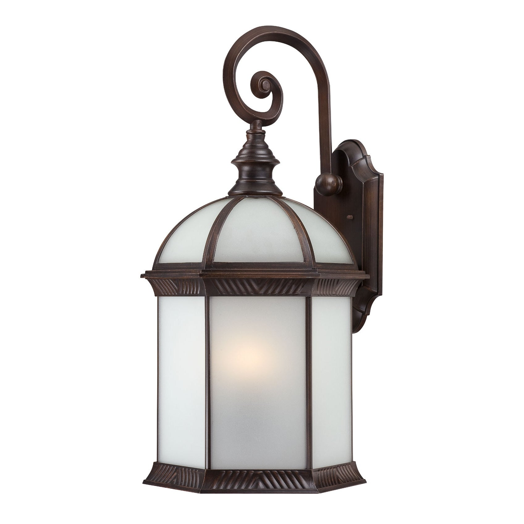 Nuvo Boxwood 1-light Rustic Bronze 26-inch Wall Sconce