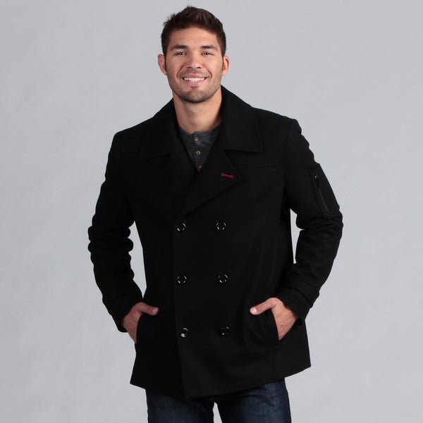 Izod Men's Wool Peacoat - Free Shipping Today - Overstock.com ...
