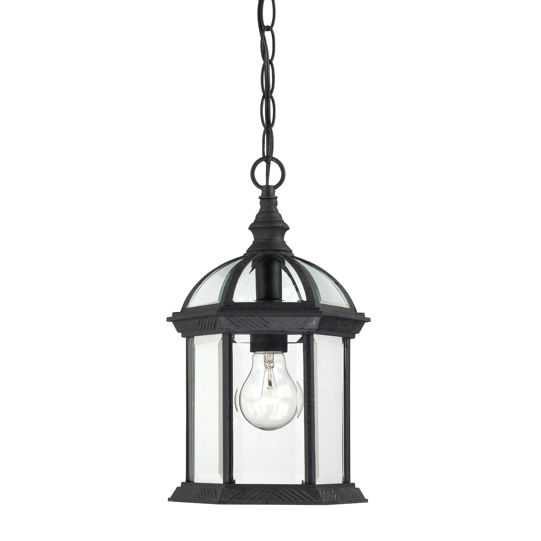 Nuvo Boxwood 1-light Textured Black 14-inch Hanging Fixture