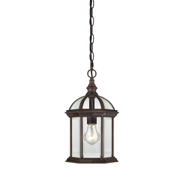 Nuvo Boxwood 1-light Rustic Bronze 14-inch Hanging Fixture