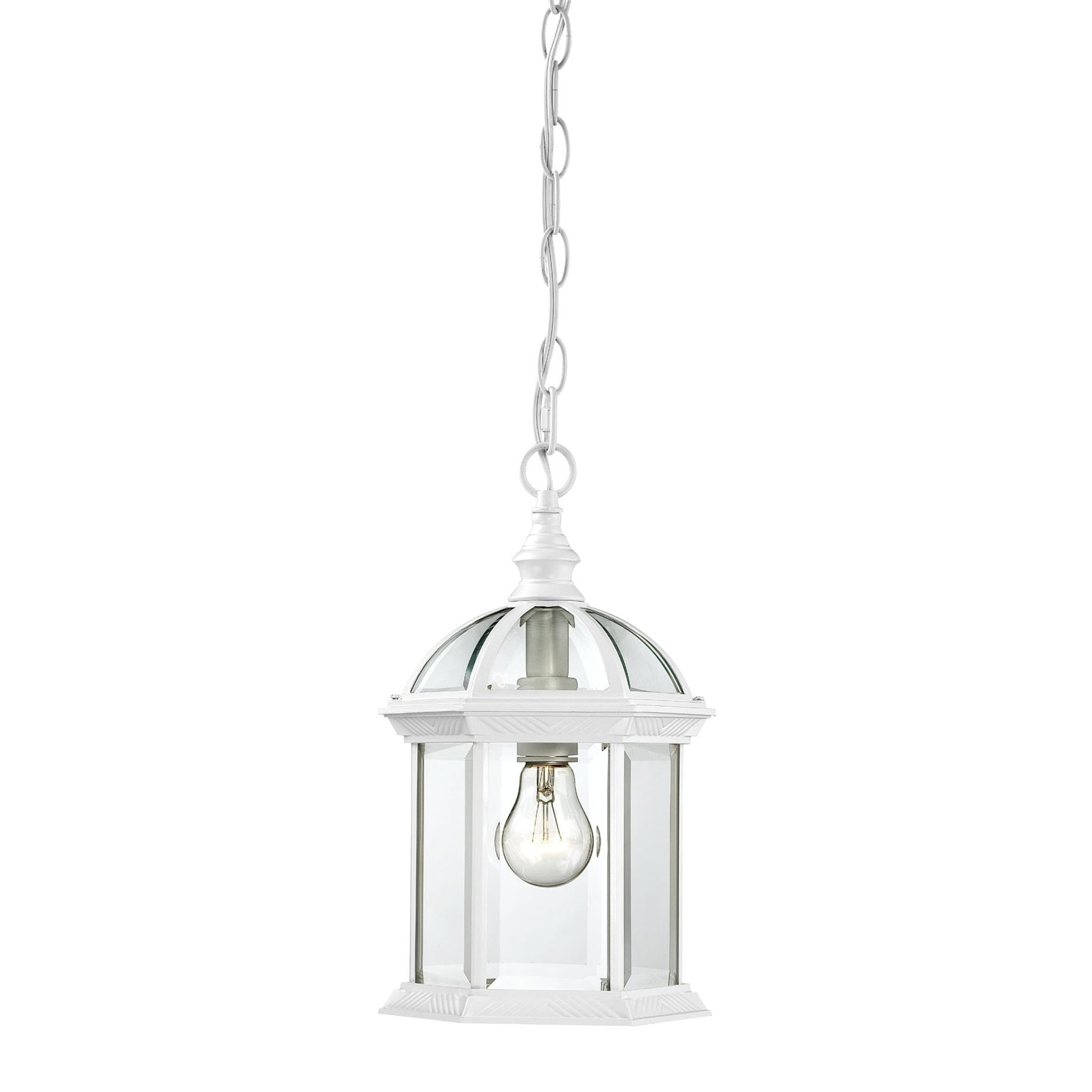 Nuvo Boxwood 1-light White 14-inch Hanging Fixture