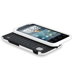 Black/ White/ Red Snap-on Rubber Coated Cases for HTC EVO Shift 4G - Thumbnail 2