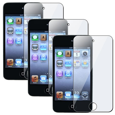 INSTEN Clear Screen Protectors for Apple iPod Touch 4th Generation (Pack of 3)