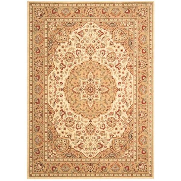 Arabesque Easton Ivory Cream Wool Rug (2'3 x 8')