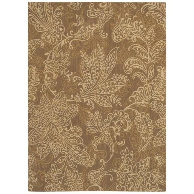 Pacifica Santa Barbara Antique Gold Wool Rug (7'9 x 10'10)