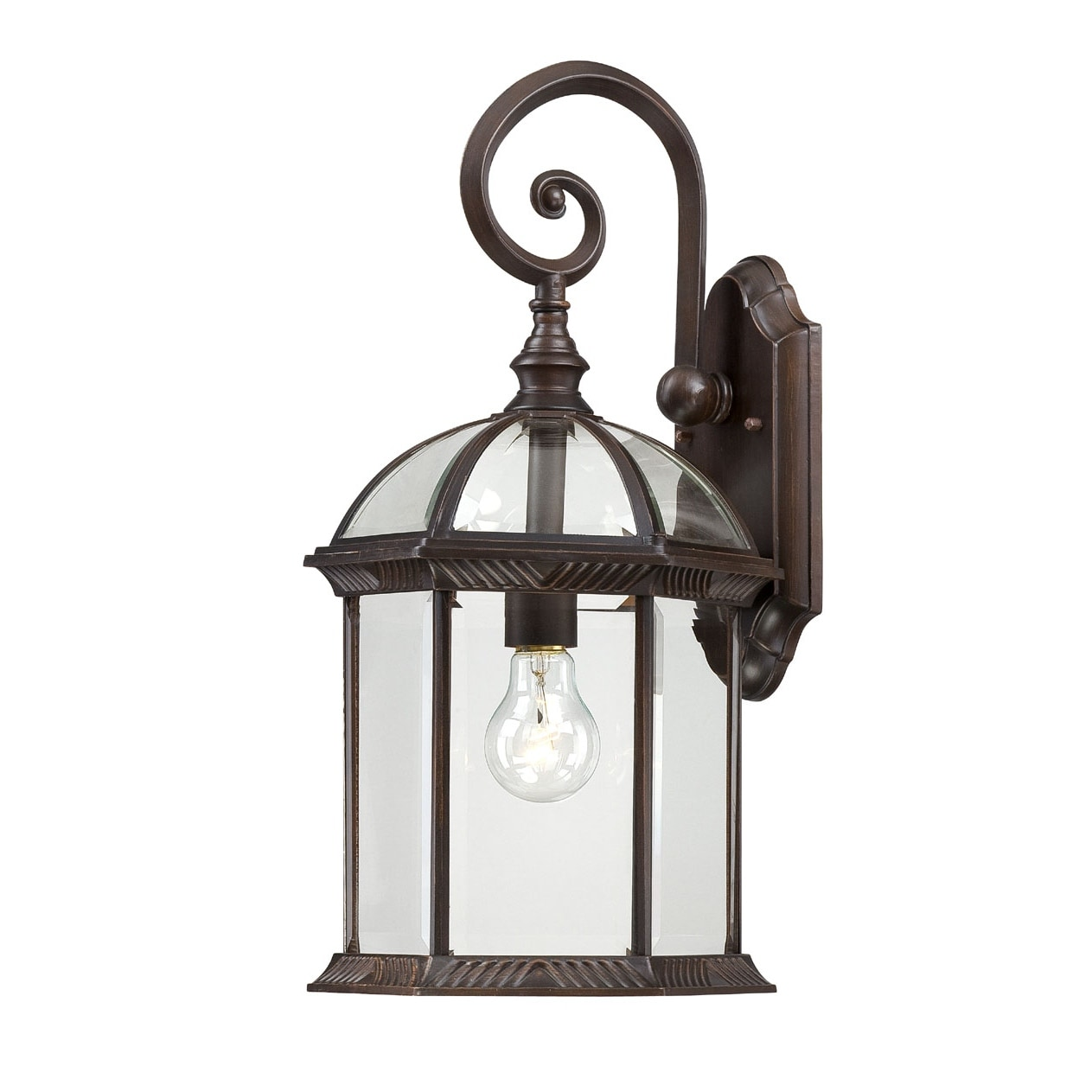 Wall Sconces Rustic: Shop Nuvo Boxwood 1-light Rustic Bronze 19-inch Wall