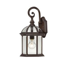 Nuvo Boxwood 1-light Rustic Bronze 15-inch Wall Sconce