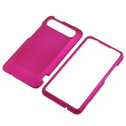 Pink Rubber Coated Case/ Protector for HTC Holiday/ Vivid/ Raider 4G - Thumbnail 1