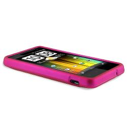 Pink Rubber Coated Case/ Protector for HTC Holiday/ Vivid/ Raider 4G - Thumbnail 2