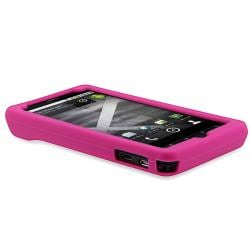 INSTEN Black/ Pink/ Purple Phone Case Cover for Motorola Droid x MB810/ X2 Daytona - Thumbnail 1