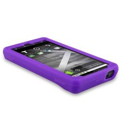 INSTEN Black/ Pink/ Purple Phone Case Cover for Motorola Droid x MB810/ X2 Daytona - Thumbnail 2
