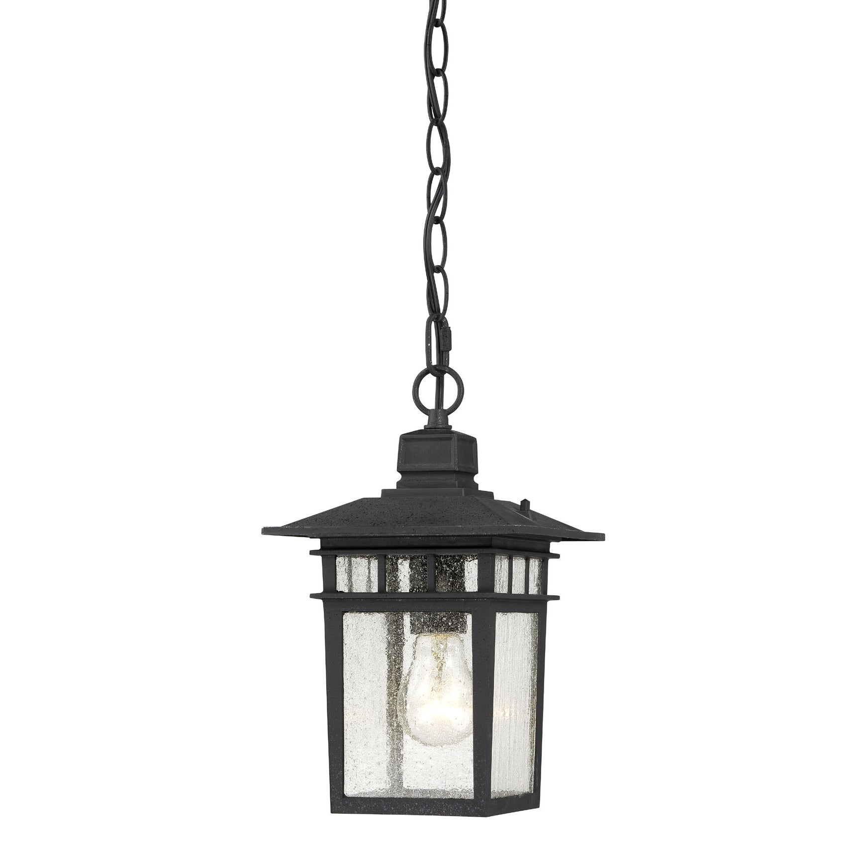 Nuvo Cove Neck 1-light Textured Black 12-inch Hanging Fixture
