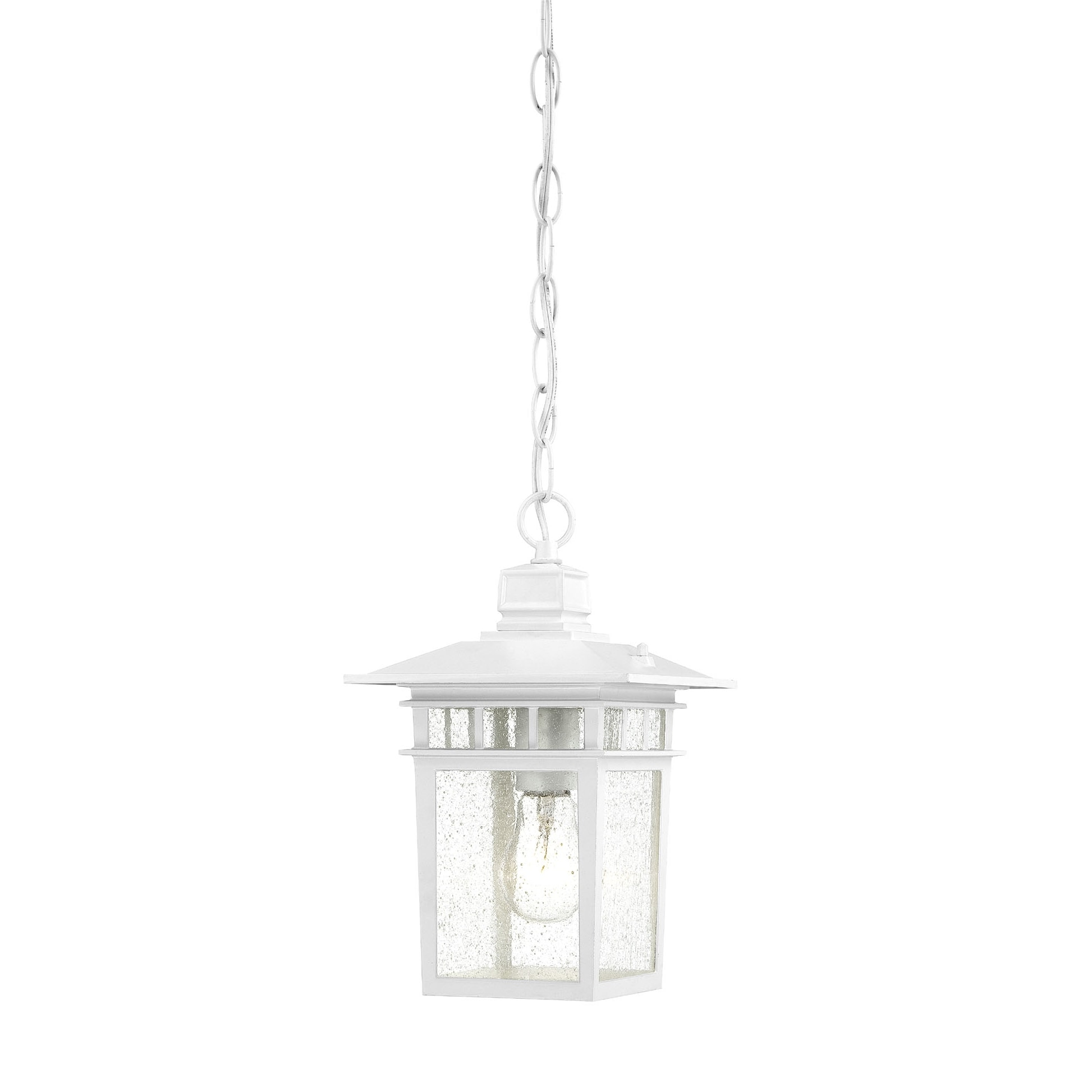 Nuvo 'Cove Neck' 1-light White 12-inch Hanging Fixture