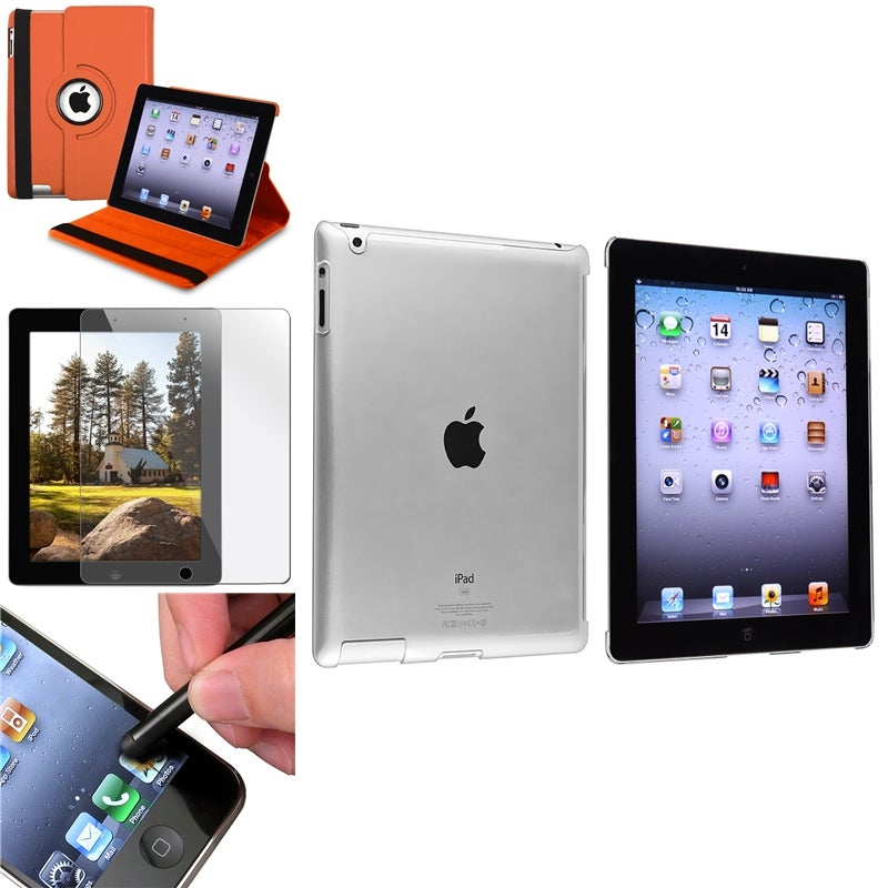INSTEN Tablet Case Cover/ Crystal Tablet Case Cover/ Screen Protector/ Stylus for Apple iPad 2/ 3