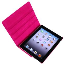 INSTEN Pink Leather Tablet Case Cover/ Crystal Tablet Case Cover/ Screen Protector for Apple iPad 3/ 4 - Thumbnail 2