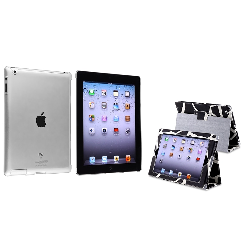 BasAcc Milk Cow Leather Case with Stand/ Crystal Case for Apple® iPad 2/ 3/ 4