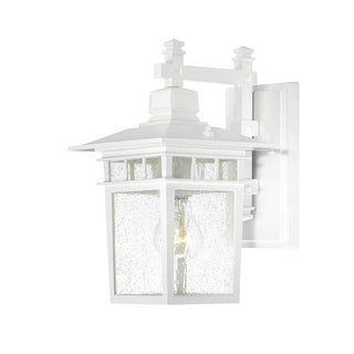 Nuvo Cove Neck 1-light White Wall Sconce